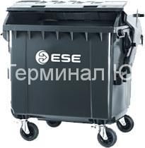 4-х колесный контейнер для мусора со сферической крышкой ESE